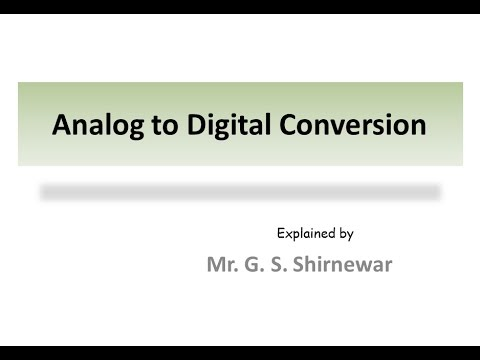 Analog to digital conversion !! (Sampling and Quantization )