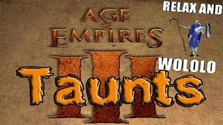 Age of Empires III - All Taunts