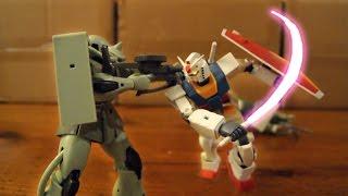 0079 - (MS vs MS 04) Gundam Stop Motion 【コマ撮り】