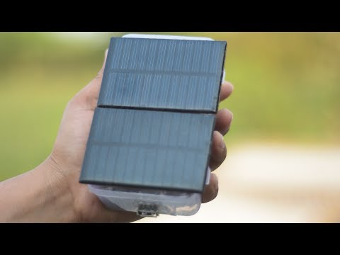 how to make solar power bank for smartphone very easy