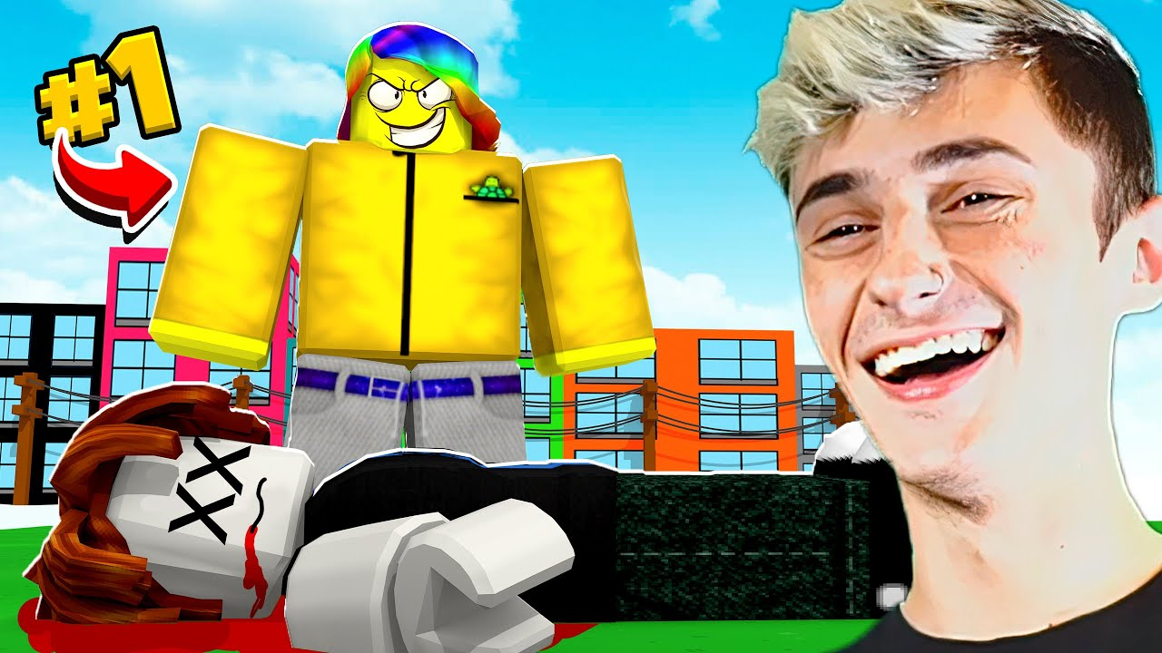 I became #1 player by BEATING UP NOOBS.. *NO ROBUX* (Roblox)