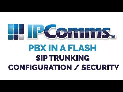 PBX in a Flash Setup & SIP Trunk Configuration - Security (P