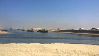 The new opening of the Suez Canal platform area