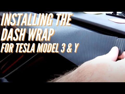 Vinyl Dash Wrap for the Tesla Model 3