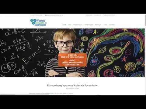 Hotsite para o IV Simpósio Internacional de Psicopedagogia