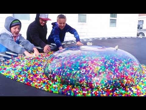 Giant Orbeez Water Balloon? What Happens?!