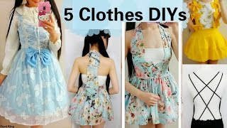 5 DIY Clothes Transformations | How to Transform/Upcycle your old clothes