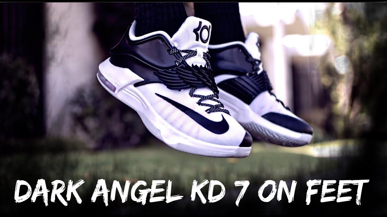 best service 3dc29 ec448 Custom Dark Angel KD 7s On Feet!!