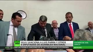 EE.UU. impone sanciones a siete diputados opositores de la Asamblea Nacional de Venezuela