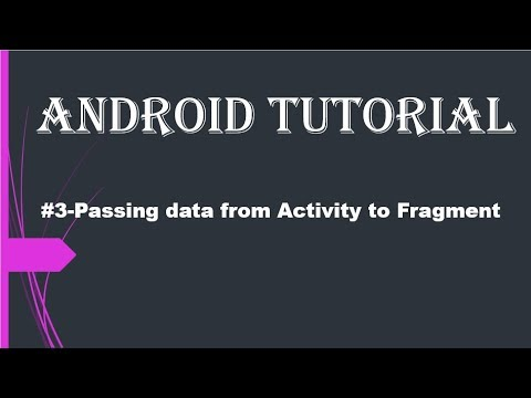 #3-Passing data from Activity to Fragment in android studio.