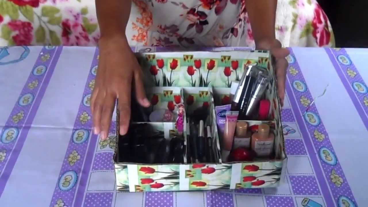 Famosos Como fazer um PORTA MAQUIAGEM / PORTA PERFUMES! - YouTube JX11
