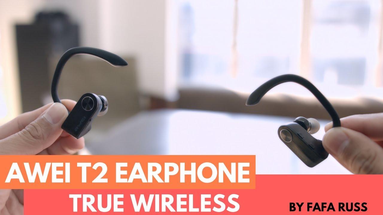 354dcec0105 Awei T2 True Wireless Sports Bluetooth Earphone - YouTube