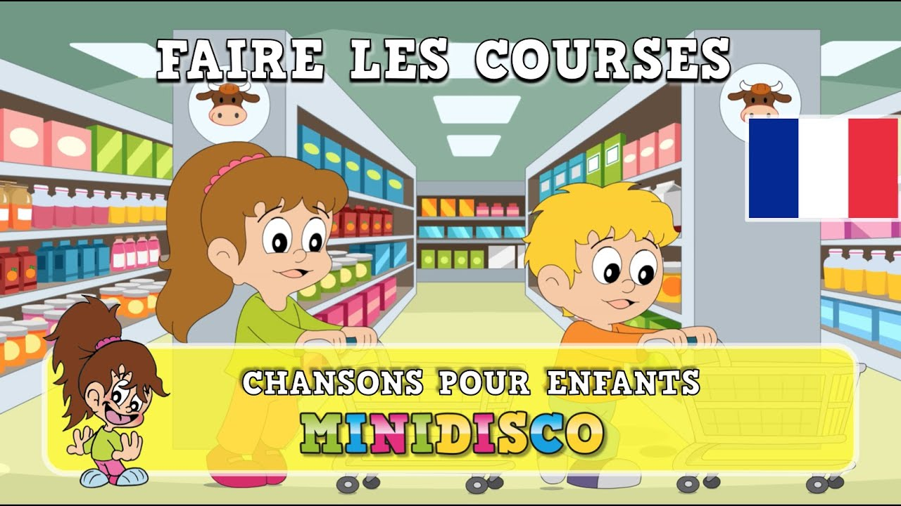 faire les courses chansons pour enfants les comptines chansons danser par minidisco. Black Bedroom Furniture Sets. Home Design Ideas