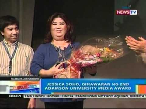 NTG: Jessica Soho, ginawaran ng   2nd Adamson university media   award