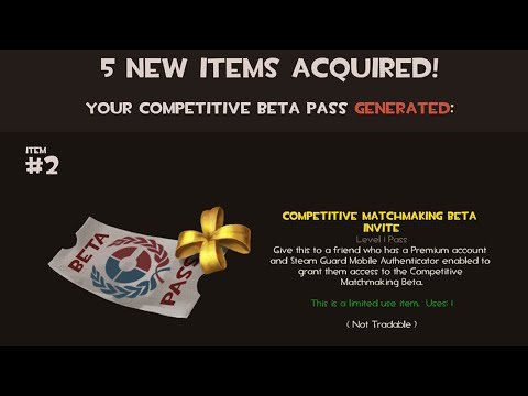 tf2 competitive matchmaking beta invite price