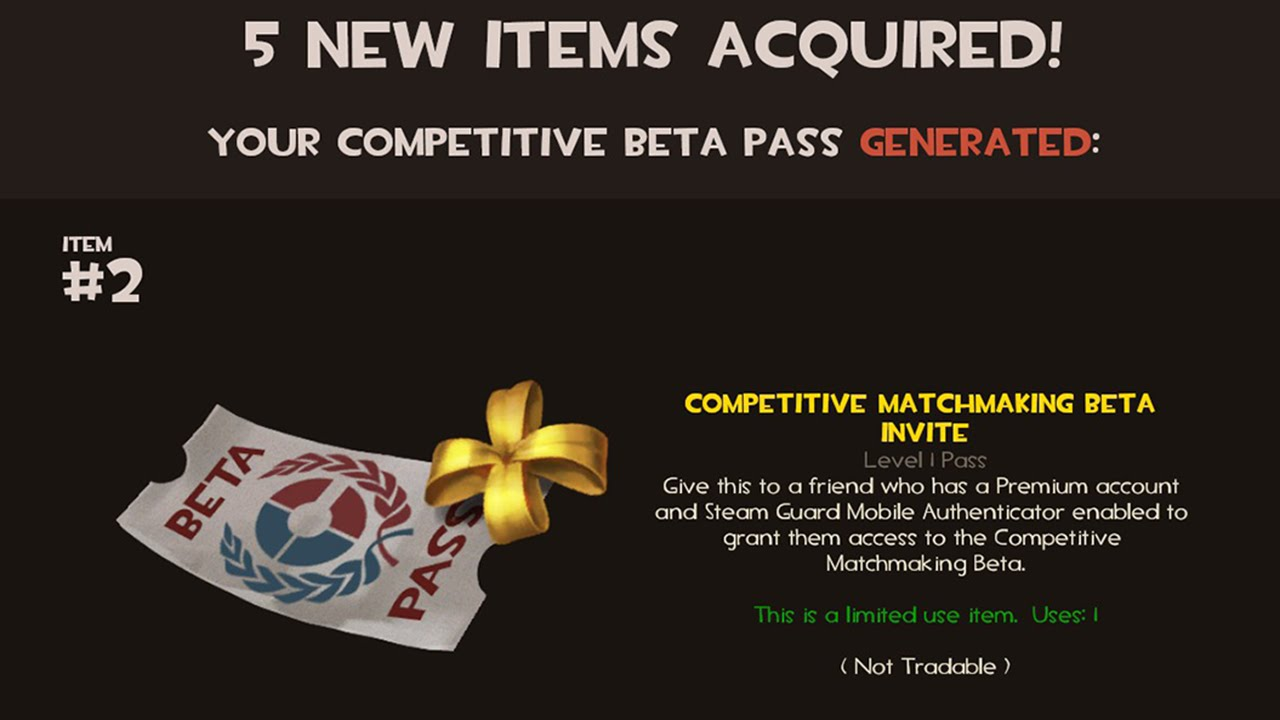 Tf2 competitive matchmaking beta invite