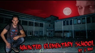CAUGHT REAL PARANORMAL ACTIVITY whilst EXPLORING a HAUNTED ELEMENTARY SCHOOL at 3 AM