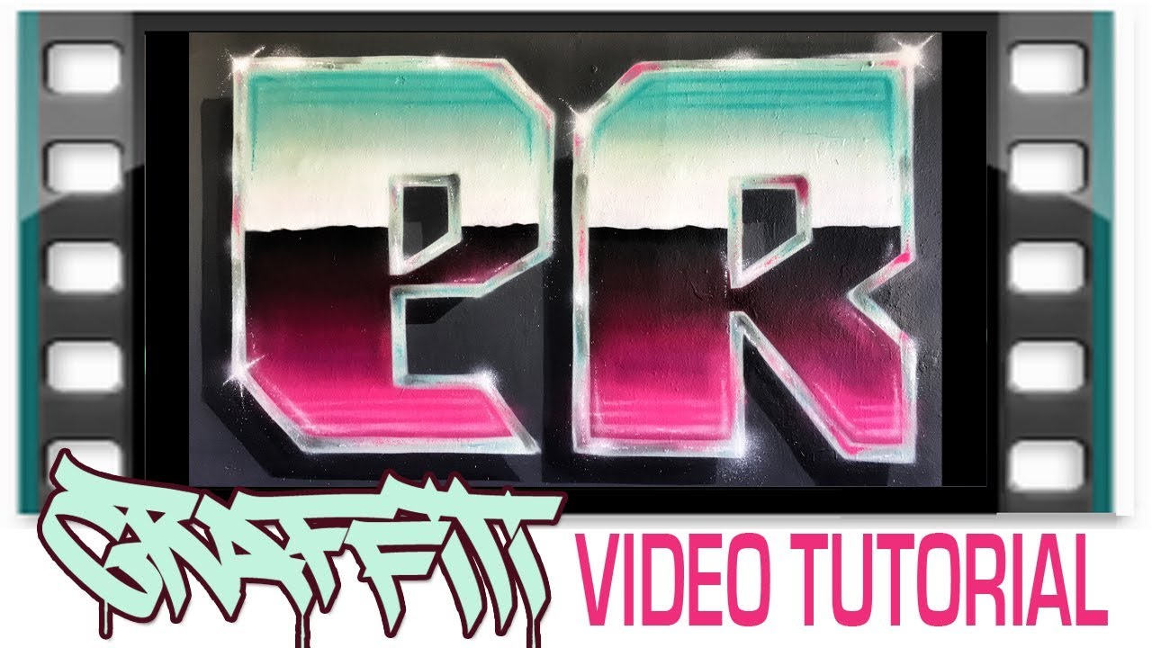 Graffiti tutorial how to spray paint chrome metal blend letter effects