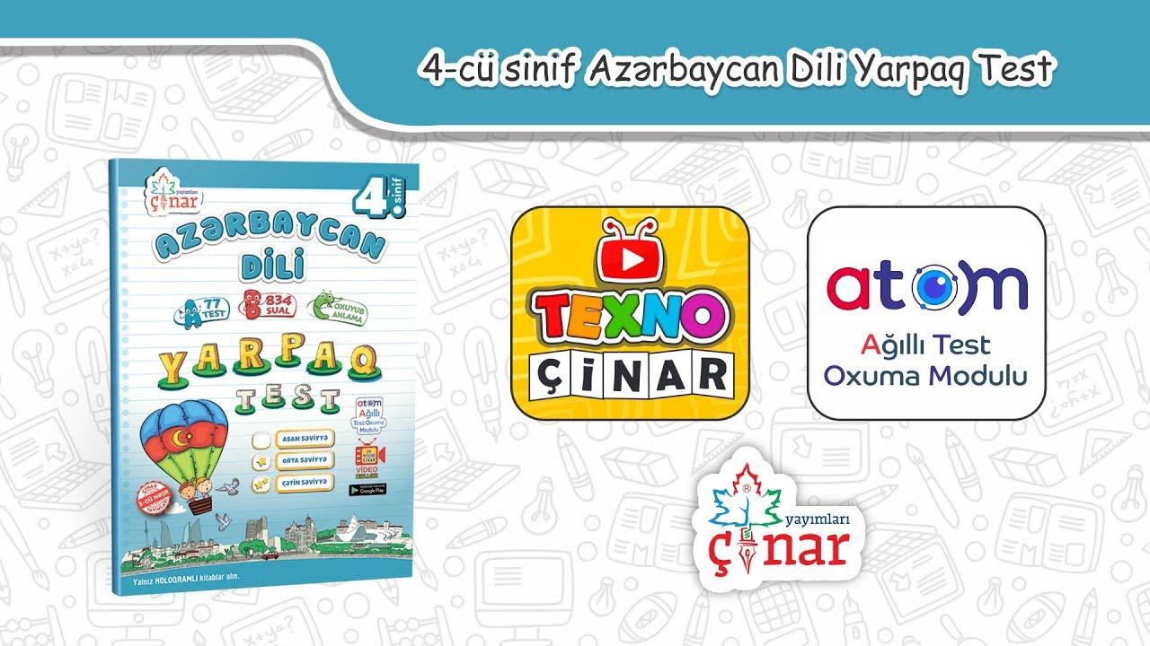 4 Cü Sinif Azərbaycan Dili Test 3 Sual 6 Youtube