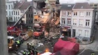 Взрыв в Бельгии: видео разрушений