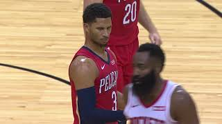 James Harden Hits Himself In Face With Ball and Josh Hart Couldn't Believe It