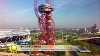 Kastar tärning om resmålet - blir det London eller Vetlanda?  - Nyhetsmorgon (TV4)