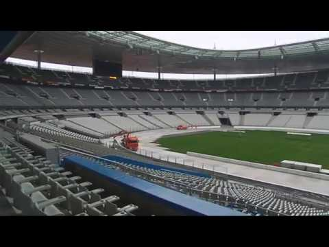 troph e andros construction piste stade de france 2011 youtube. Black Bedroom Furniture Sets. Home Design Ideas