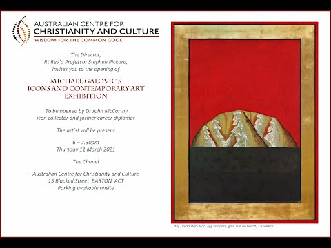Michael Galovic (artist ) in Canberra 2021