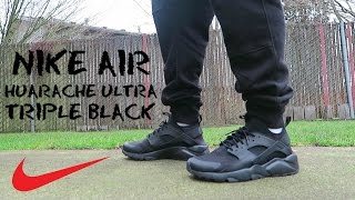 My new work shoes the Nike Air Huarache Ultra Triple Black