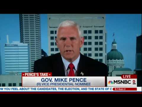 Mike Pence says jailing Clinton is just like Nixon impeachment hearings