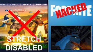 Fortnite Stretch Resolution DISABLED, Fortnite HACKED, Loot Lake SECRET BUNKER!