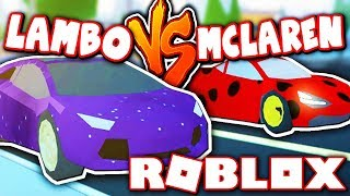 WHICH CAR IS FASTER: LAMBO VS MCLAREN!!  (Roblox Jailbreak Race)