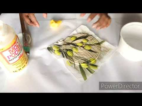 DIY Glitter Decoupage Or Crystal Decoupage [Start To End Tutorial]