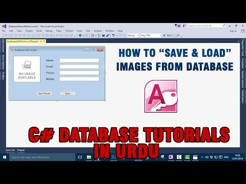 #11) C# Access Database Tutorial In Urdu - Save & load Images from database