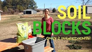 Super Easy Soil Block Recipe! Only 2 Ingredients