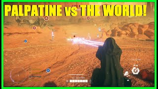 Star Wars Battlefront 2 - Emperor Palpatine vs The ENTIRE Clone Army XD