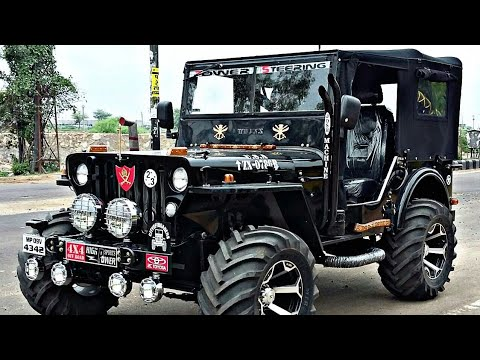 Modified Jeep | All Black Jeeps | Mahindra Jeeps | Car Wheels