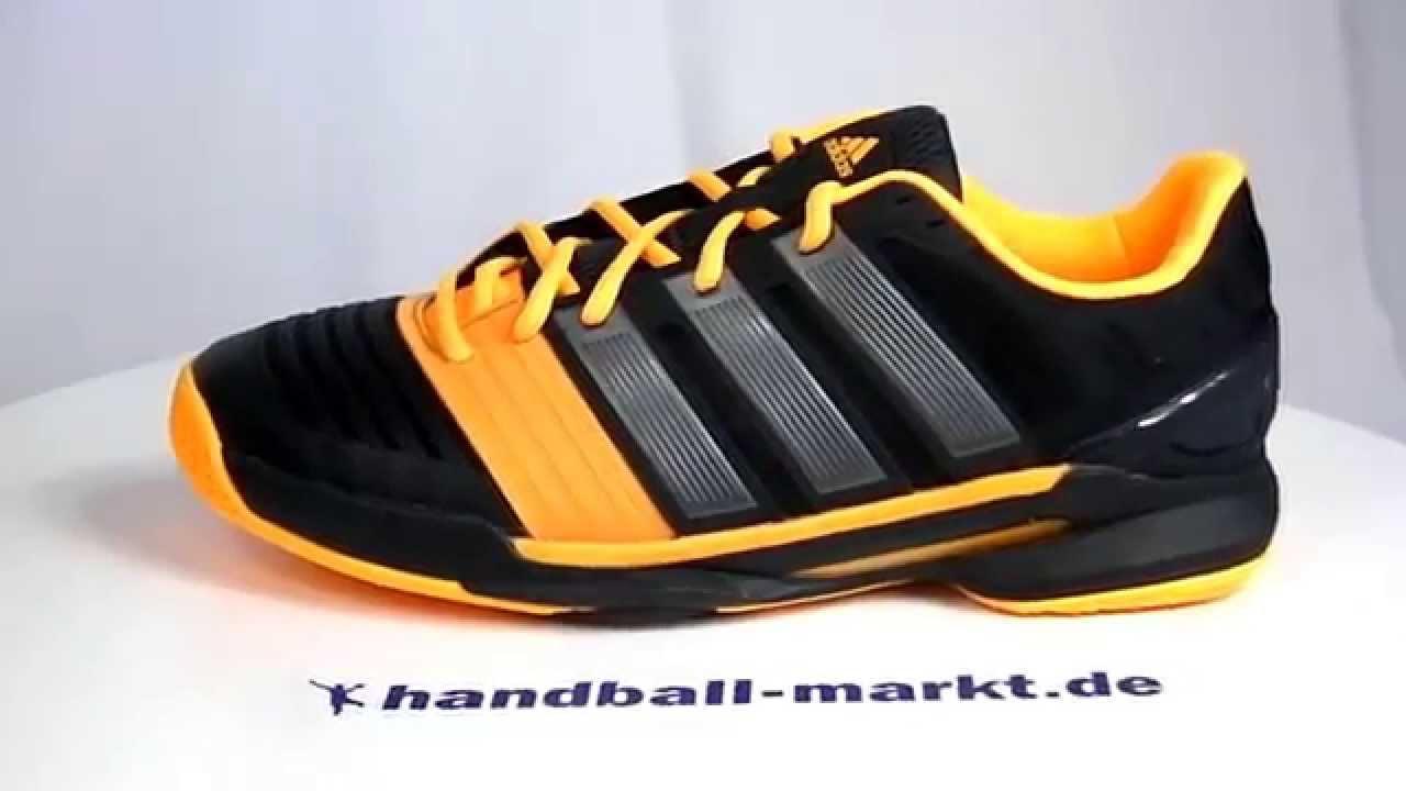 Adidas adipower Stabil 11 Handballschuhe schwarz/gelb - 360° Ansicht