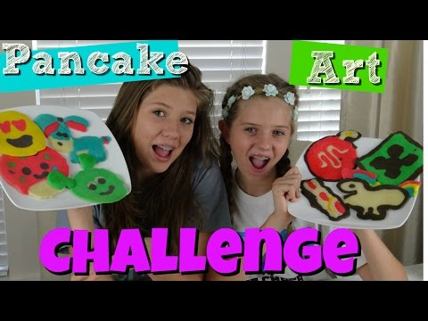 PANCAKE ART CHALLENGE! MUSICALLY, SNAP CHAT, MINE CRAFT,UNICORN,DISNEY, EMOJI  || Taylor and Vanessa