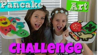PANCAKE ART CHALLENGE! MUSICALLY, SNAP CHAT, MINE CRAFT,UNICORN,DISNEY, EMOJI  || Taylor and Vanessa