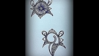How To Draw Sangu Chakram - Tanjore Painting For Beginners