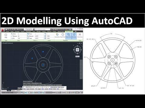2D Drawing Using AutoCAD: Drawing 2 - YouTube