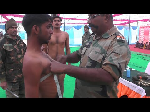 Indian army physical fitness [ Height, Weight & Chest ] Measurement Test Live Video