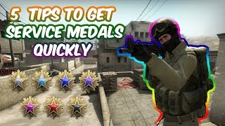 5 CS:GO TIPS TO GET YOUR FIRST SERVICE MEDAL QUICKLY (Comp)