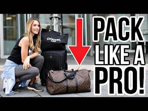 HOW TO PACK LIKE A PRO | TRAVEL IN STYLE! (LOUIS VUITTON KEE