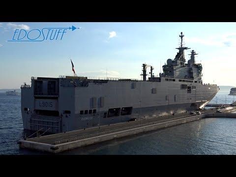 French Navy Dixmude L9015 Amphibious Assault Ship - Split Harbor Croatia