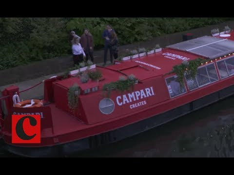 Campari brings narrowboat to Regents Canal