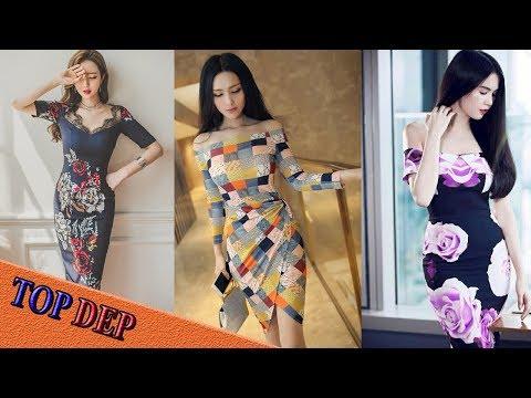 Những Mẫu Váy đầm ôm Body Hoa đẹp Suất Sắc Nhất Năm 2017