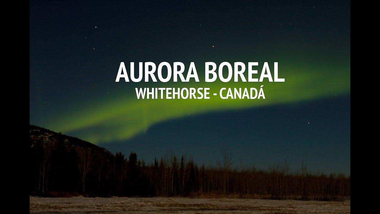 Aurora Boreal em Whitehorse, Canadá - YouTube