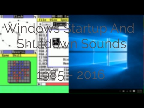 Windows 98 startup and shutdown sounds